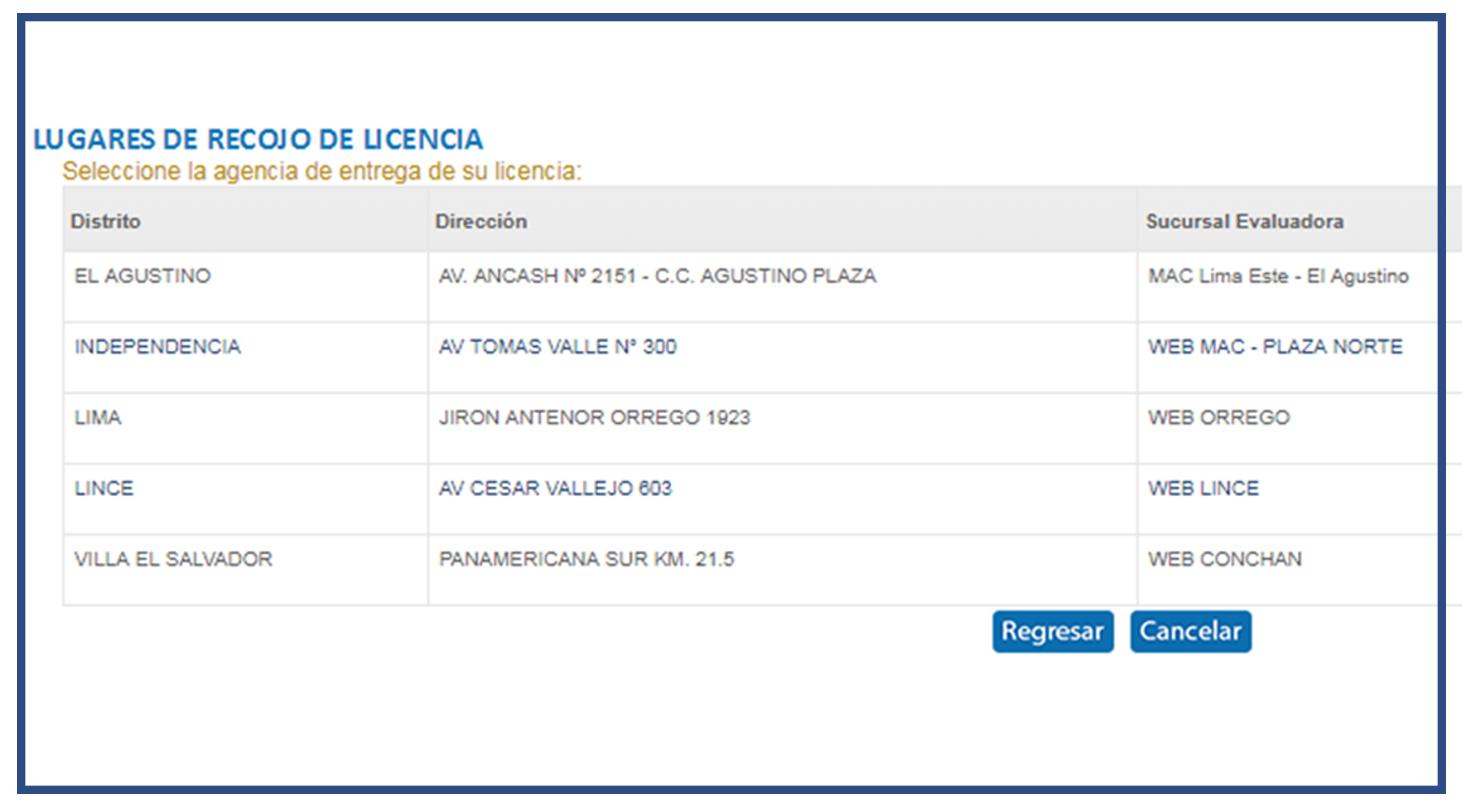 elegir-lugar-de-recojo-revalidar-licencia-de-conducir-online-brevetes-peru